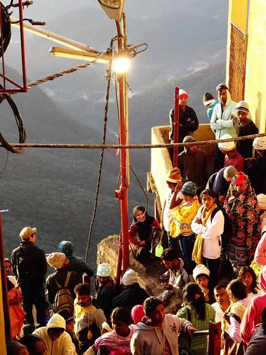 Pilgrims at the top of Adam's Peak