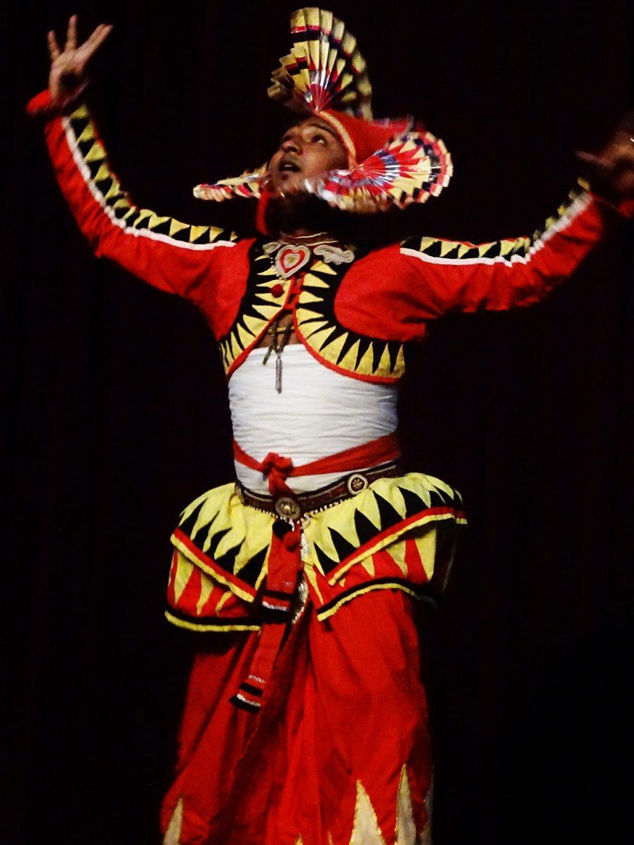 Traditional dancer from Kandy, Sri Lanka