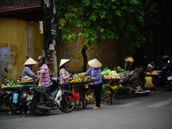 Traditional bicycle food sellers in Hanoi