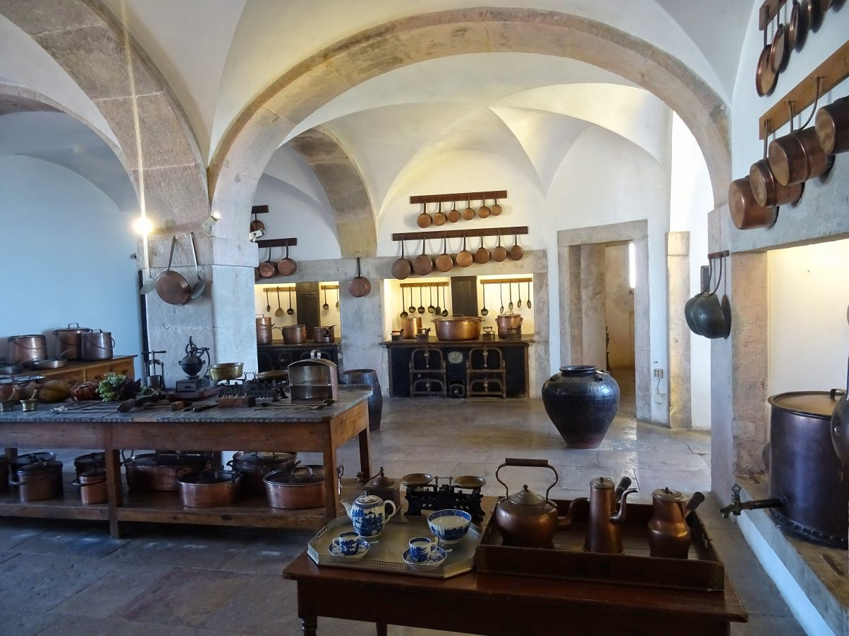 Grand kitchen inside Pena Palace, Sintra