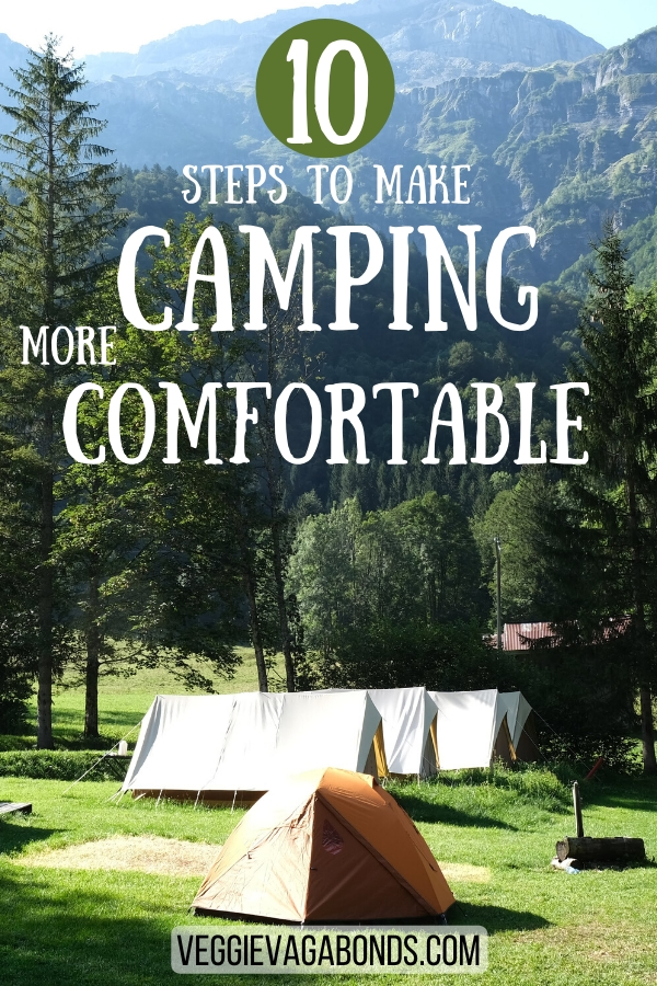 How to make camping more comfortable pin