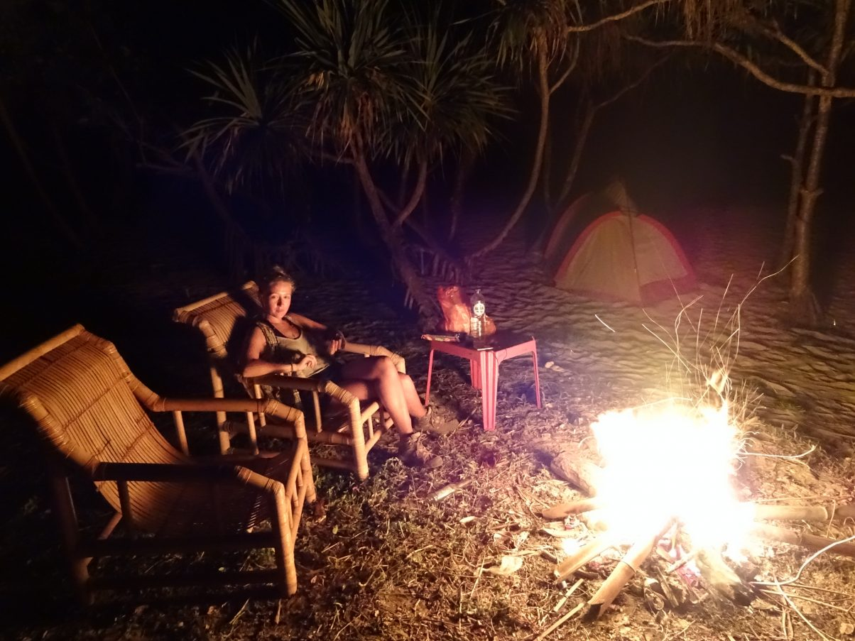 The perfect beachfront camping set up