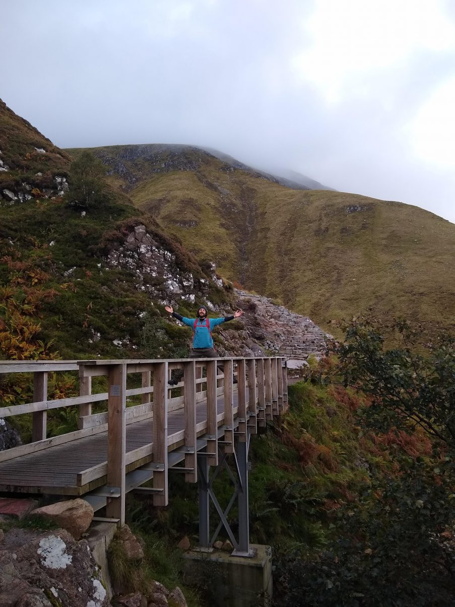 Man hiking Ben Nevis