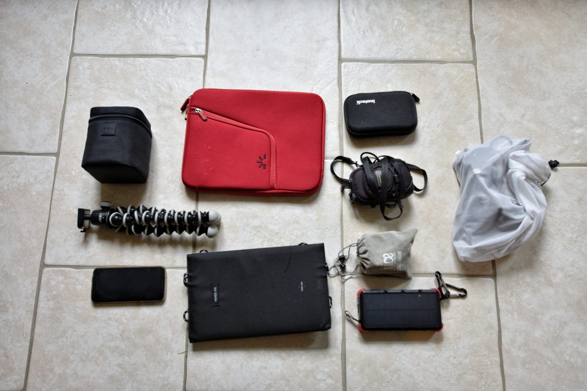 Electronics for a bike trip packing list