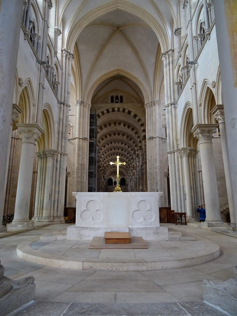 Interior of Vézelay Basilica