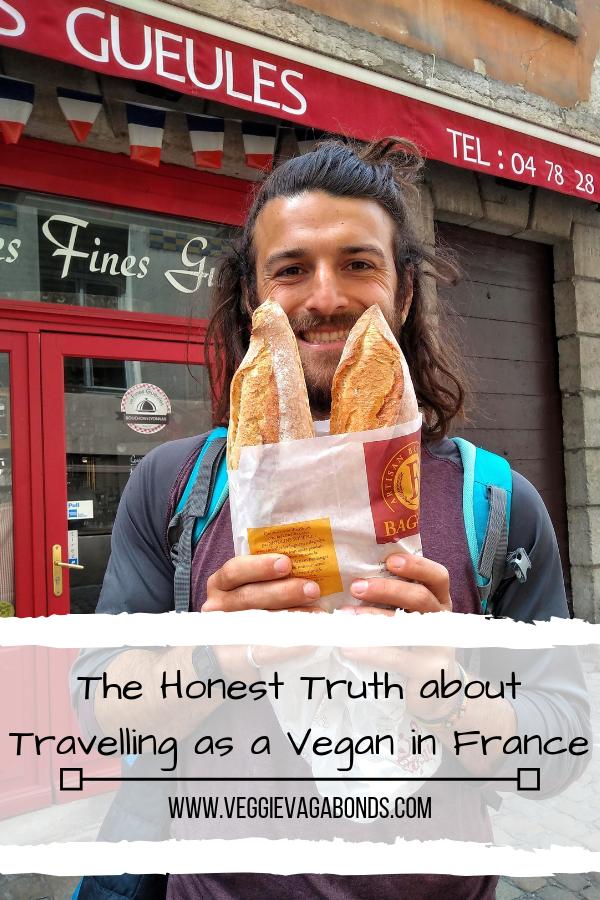 Man holding baguette