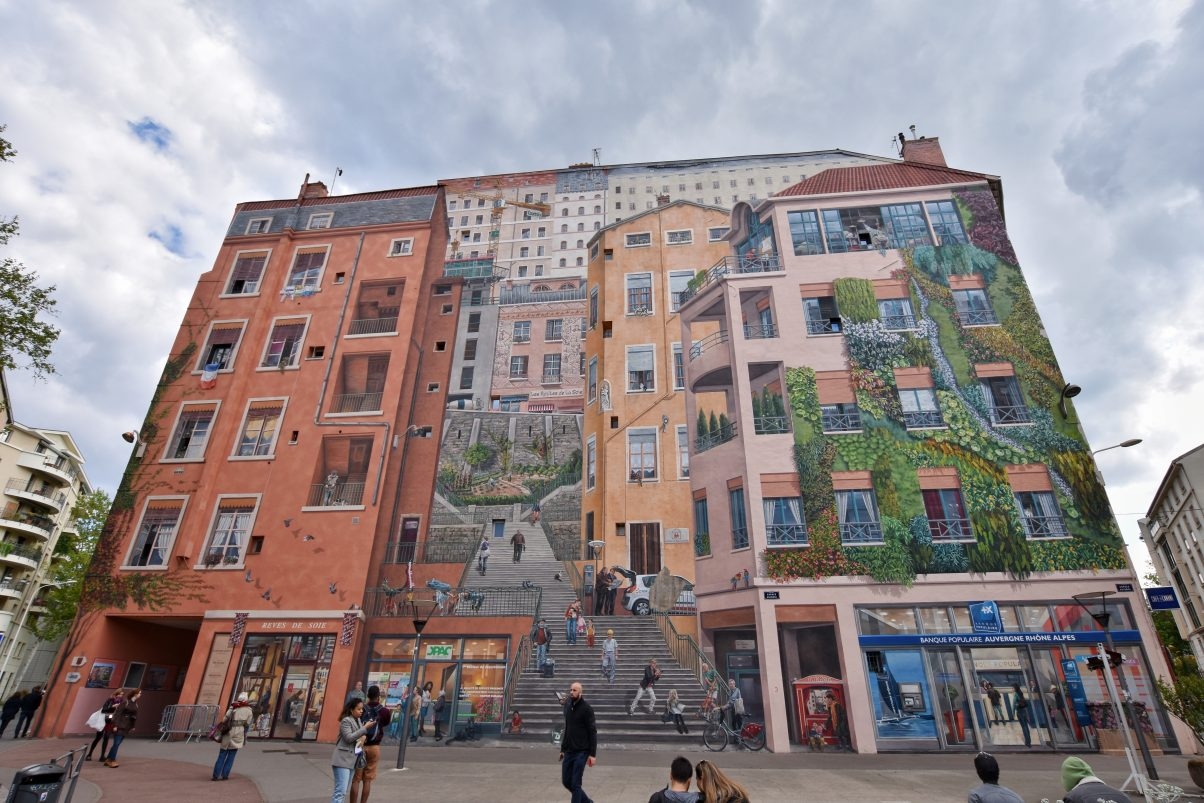 The Mur des Canuts in Croix-Rousse