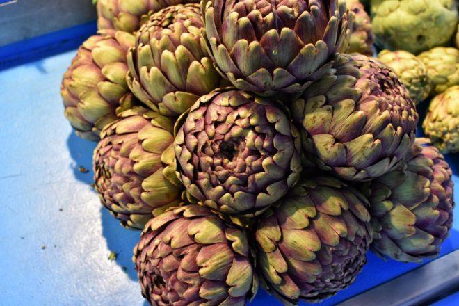 Artichokes at market