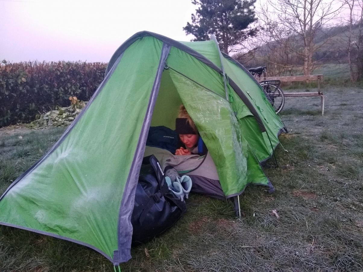 long-term camping in frosty weather