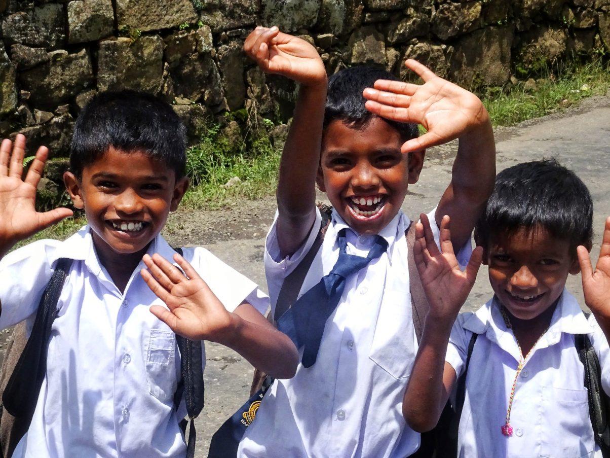 Happy children in Sri Lanka