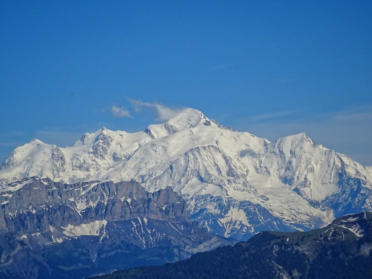 views of Mont Blanc from Le Môle