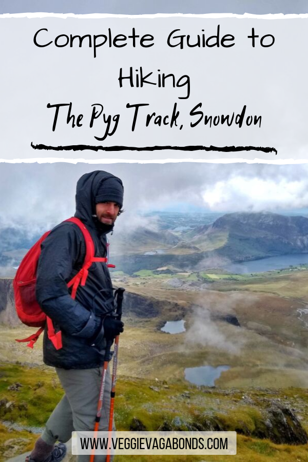 Pin for hiking the pyg track Snowdon