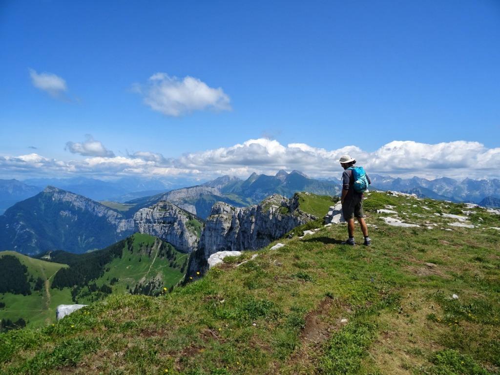 Man hiking mountain