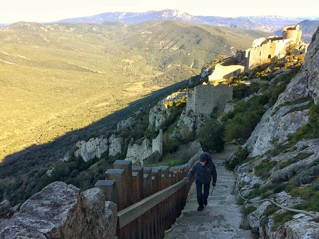 Sentier de randonnée de la voie cathare en France