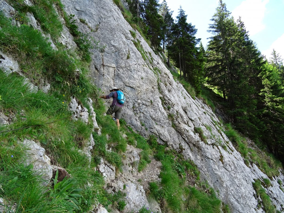 Man climbing Via Ferrata