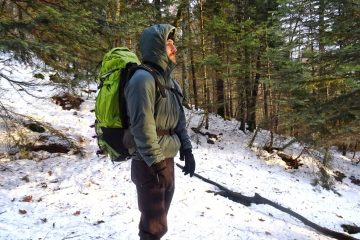 Man wearing Arc Teryx Insulated Jacket