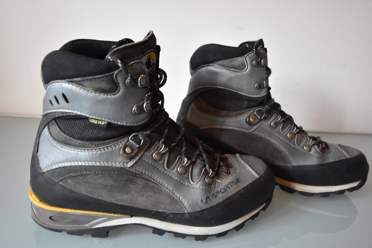La Sportiva Trango hiking boots for my day hiking packing list