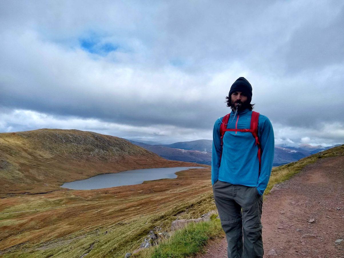 Man hiking in Snowdonia National Park