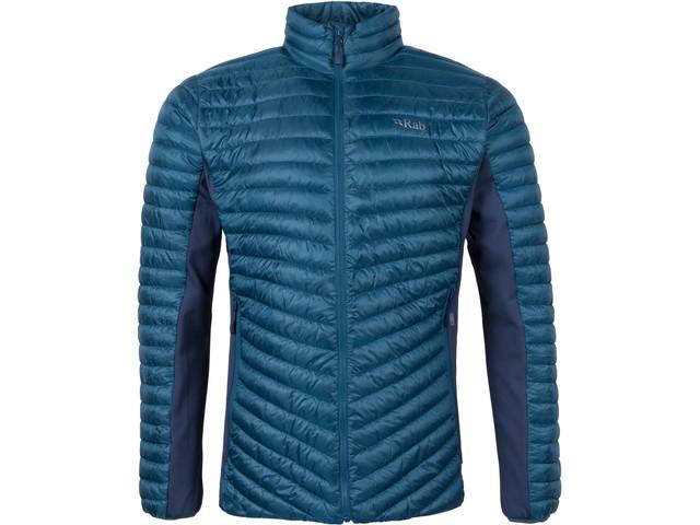 Mens blue Rab insulated vegan coat