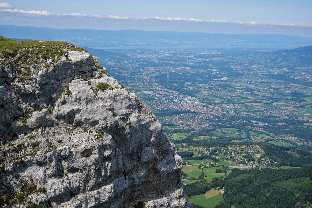 Views of Geneva from Sous Dine peak