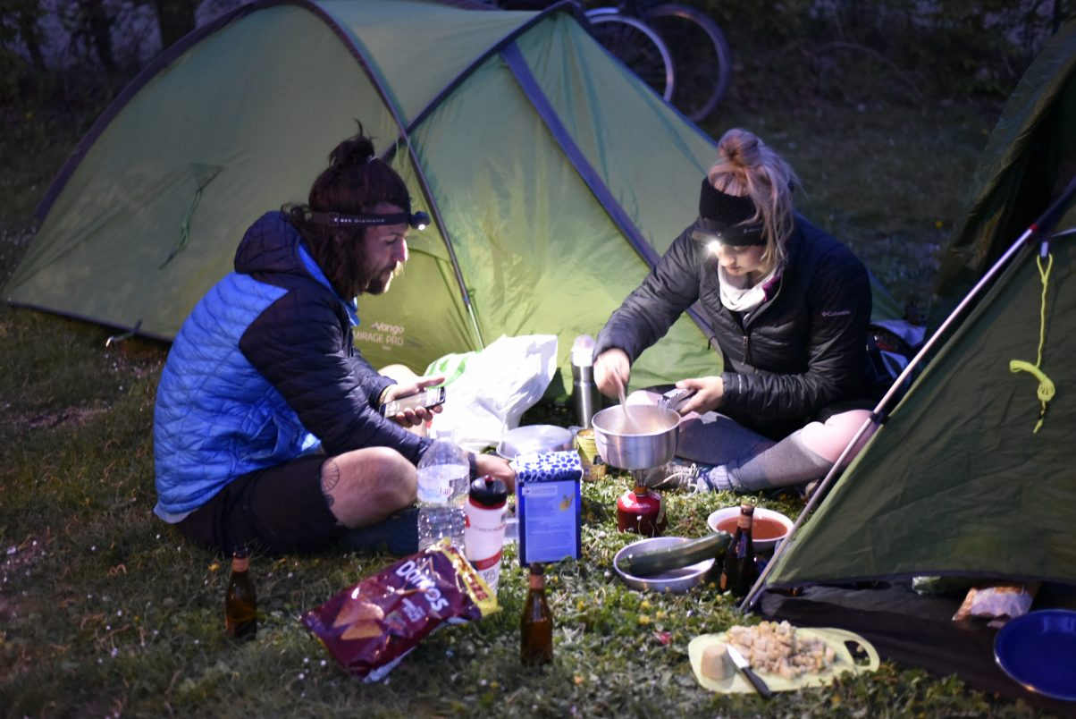 Couple on camping trip