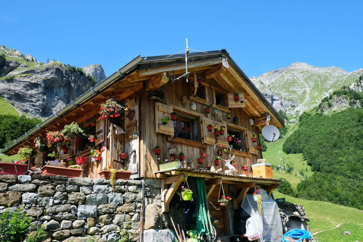 Mountain refuge in France