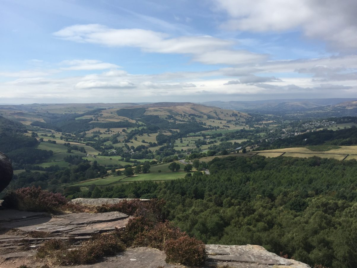 Views of Foxhouse to Longshaw hike in the Peak District
