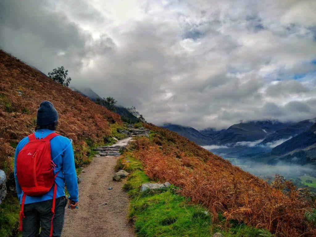 Ben Nevis walk route