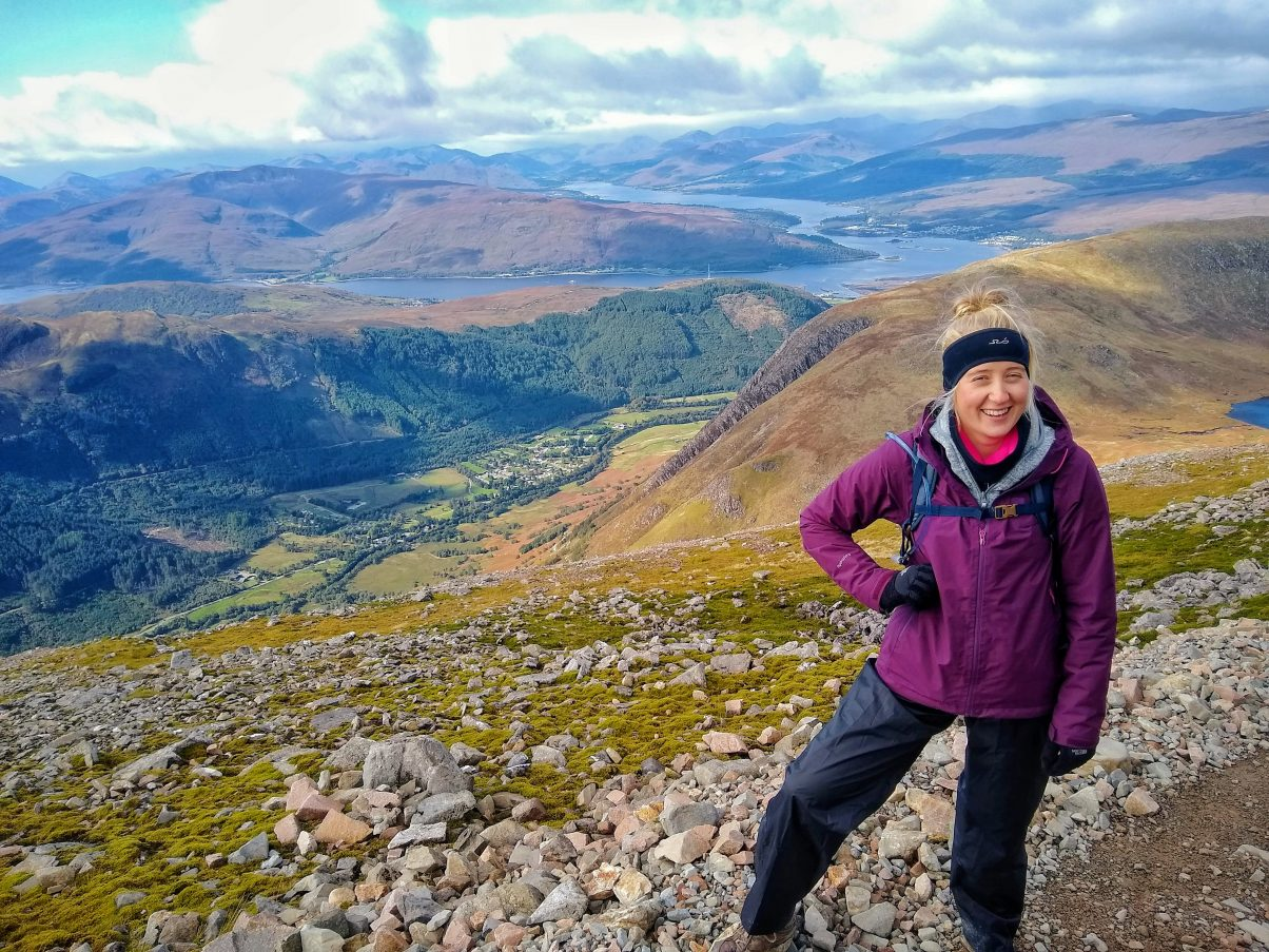 Girl on Ben Nevis walk