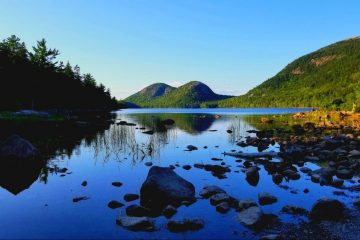 Bubble Pond Hiking Trail in Acadia National Park