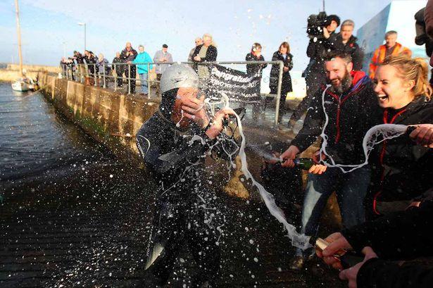 Sean Conway Swimming Length of Britain