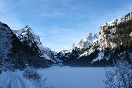 Lac Taney in the winter