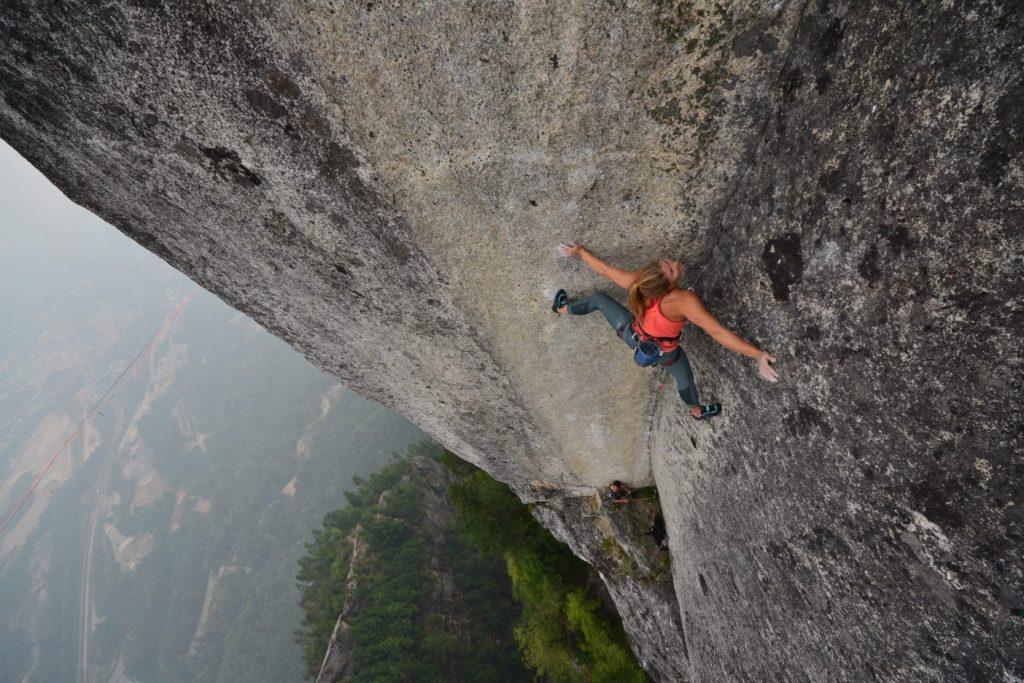 Hazel Findlay Trad Climbing