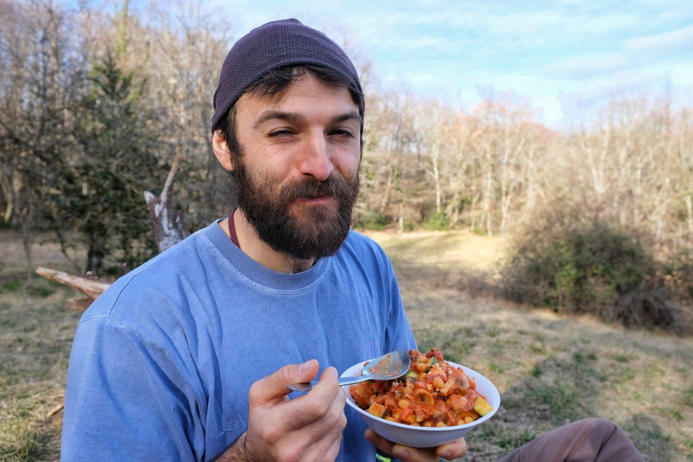 Vegan camping dinners