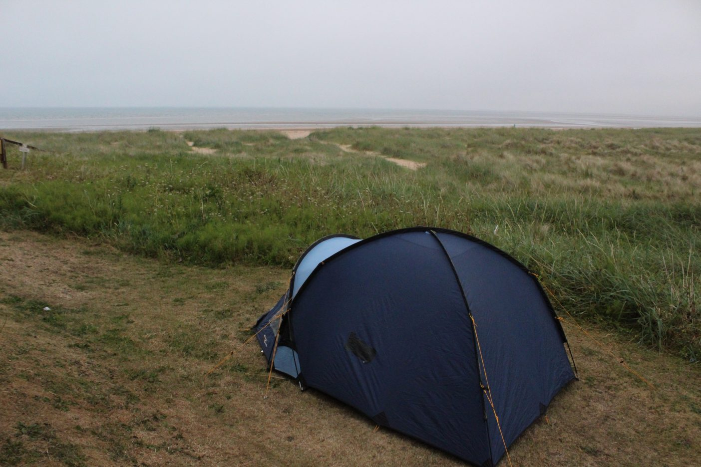 Wild beach camping Scotland