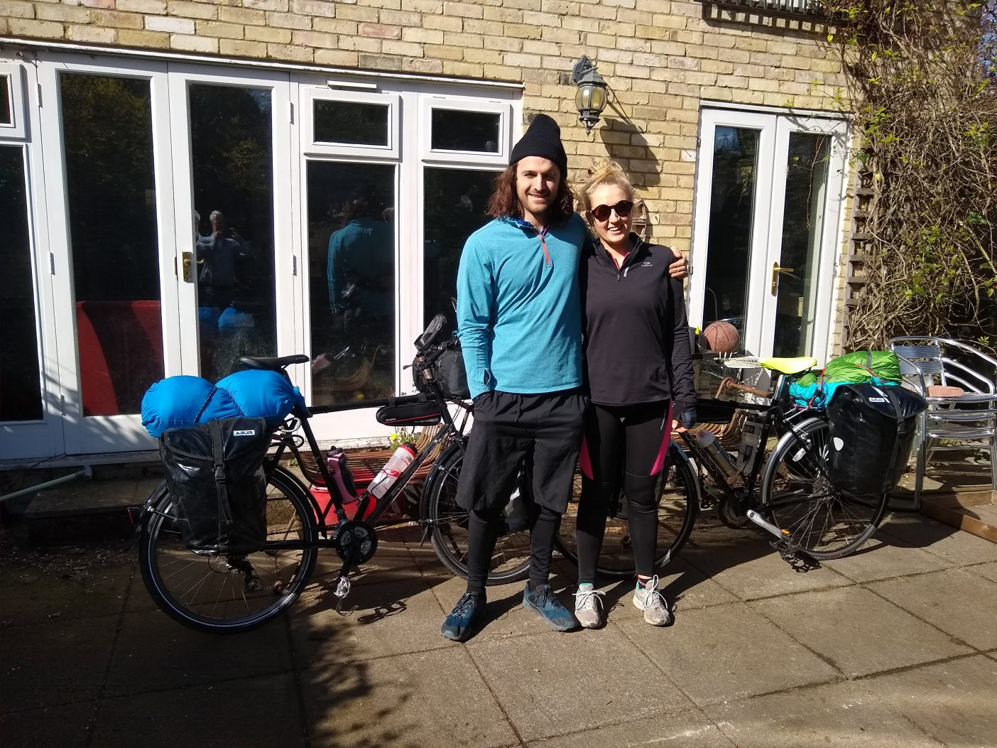 Cycle touring couple