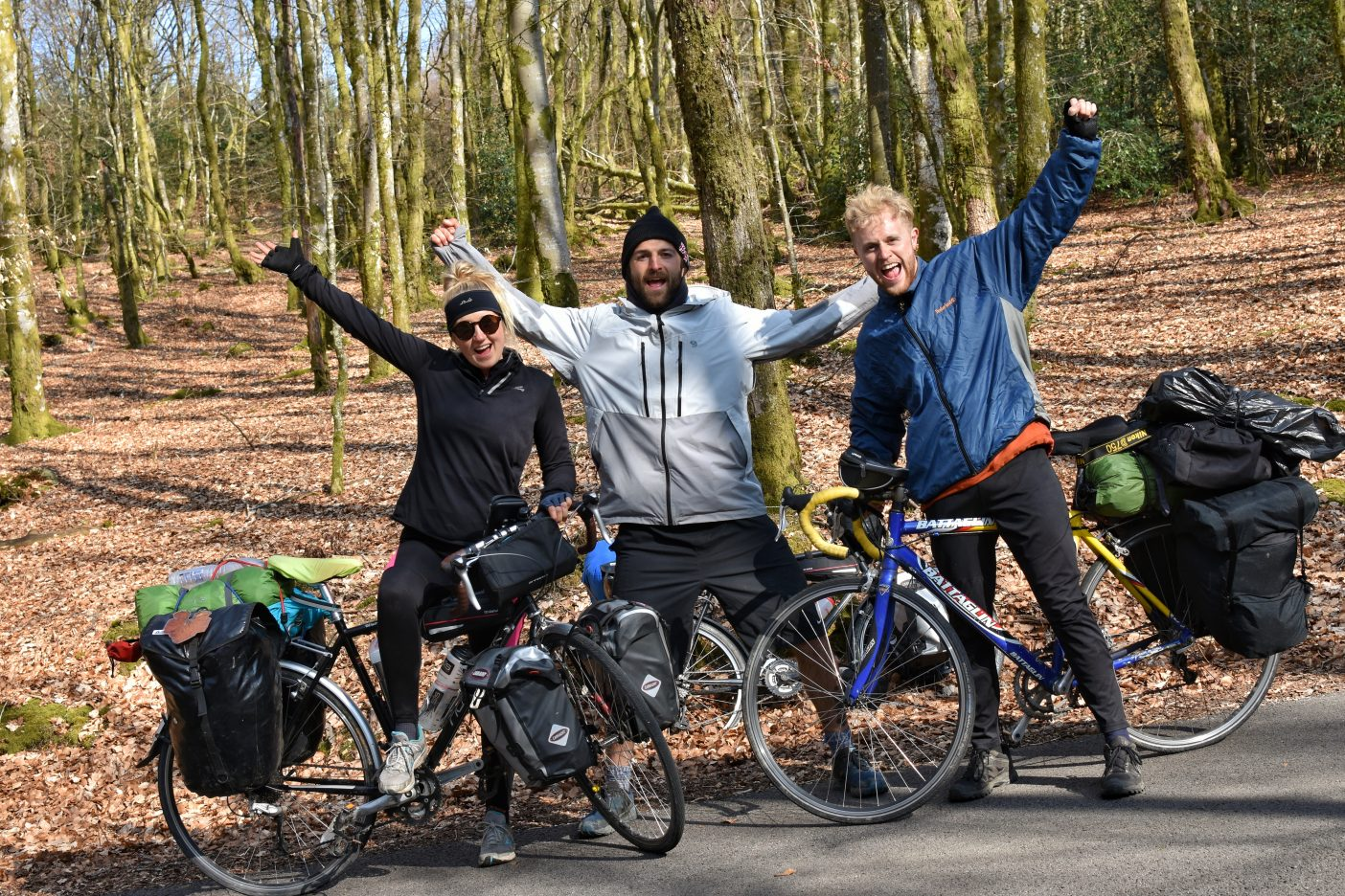 Three cycle tourers