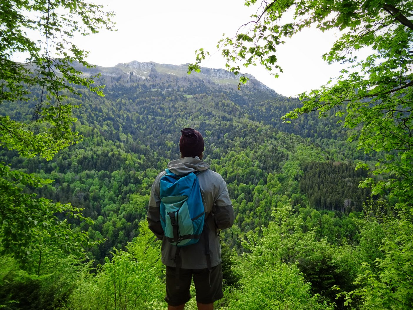 Man hiking in the outdoors