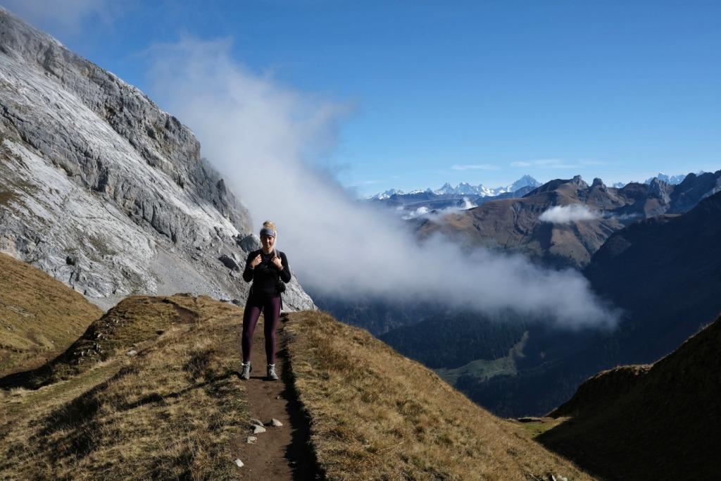 Girl Climbing mountain