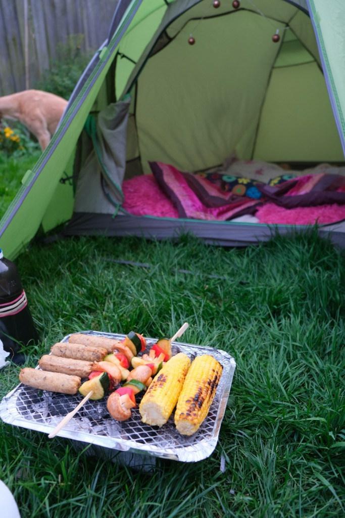 Vegan bonfire food