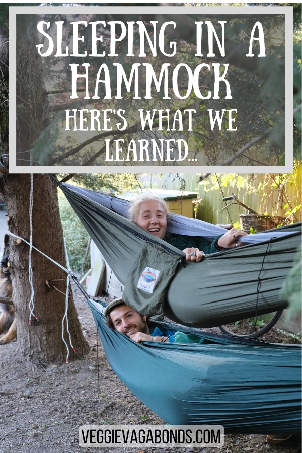 Sleeping in a hammock pin
