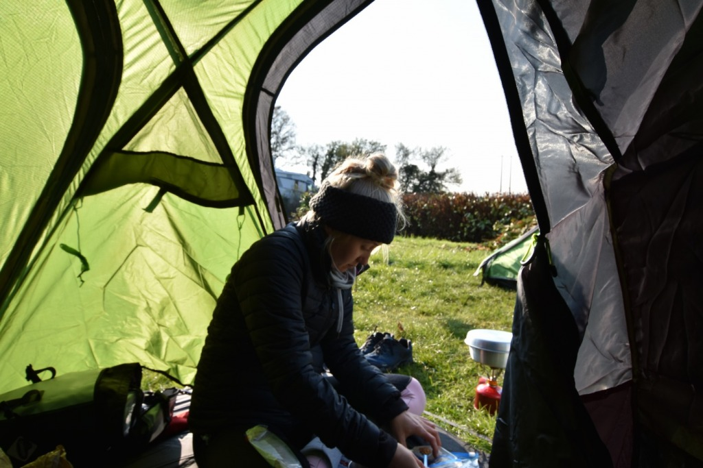 A beginner camping trip