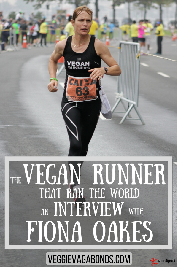 Vegan runner Fiona Oakes