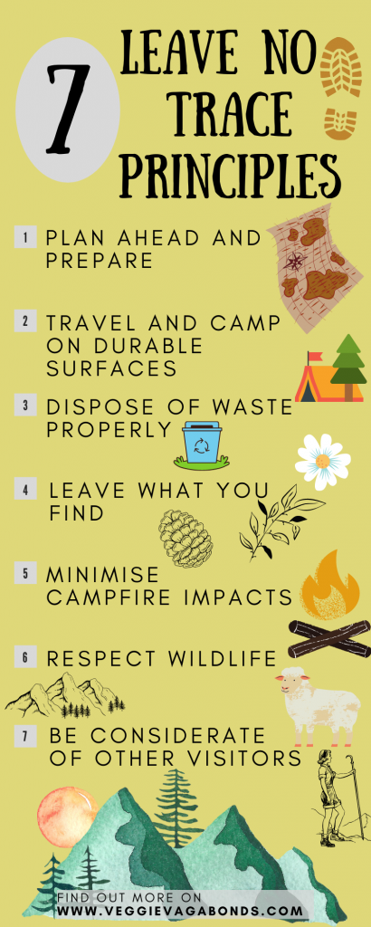 7 Leave No Trace Principles infographic
