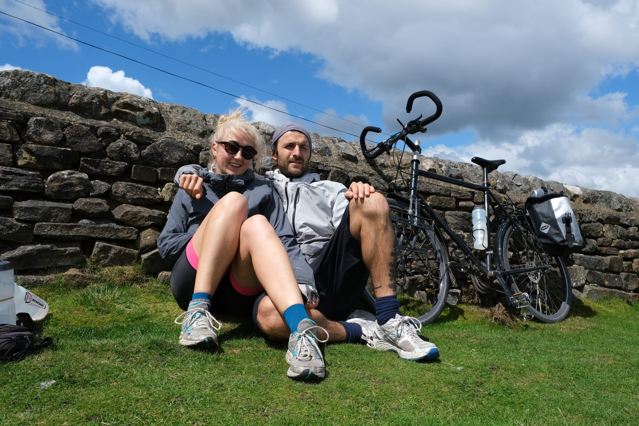 Couple on cycling adventure