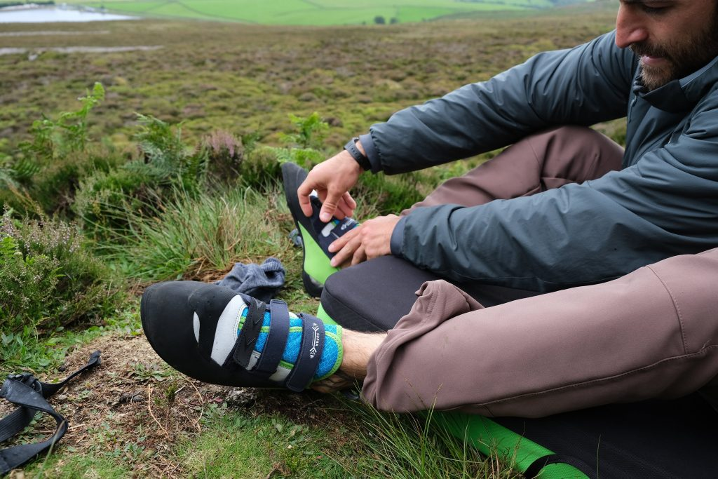 Reviewing the Evolv Supra climbing shoes