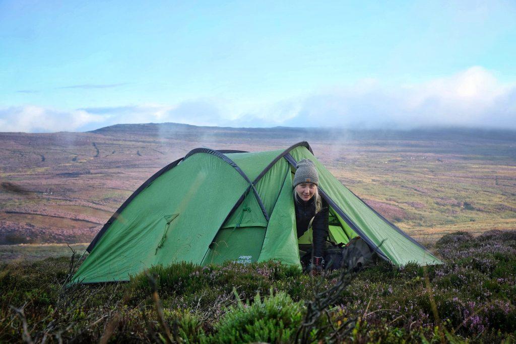 Wild camping spot in Scotland