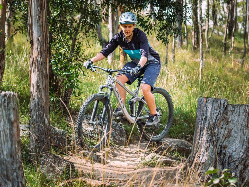 Mountain biking over tree routes