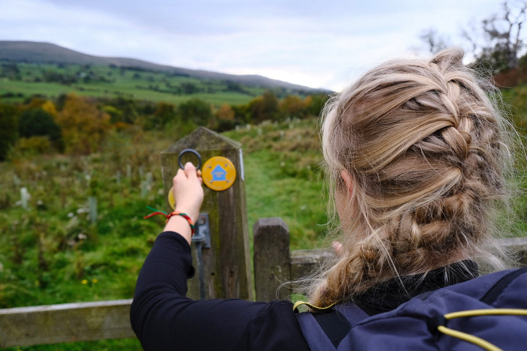 Girl hiking on the Cumbria Way route