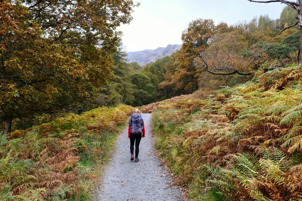 Girl Hiking in the Lake District